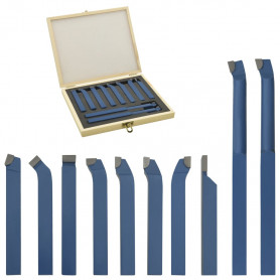 11-daļīgs griežņu komplekts, karbīds, 10x10 mm, P30