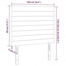 konsoles galdiņš, MDF, balts ar pelēcīgi brūnu