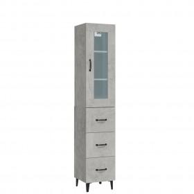 uzglabāšanas kastes, 4 gab., pelēkas, bambuss