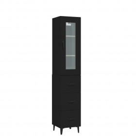 1-paneļa istabas aizslietnis, melns, 175x180 cm