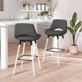 bāra krēsli, 4 gab., melna mākslīgā āda