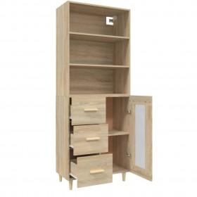 konsoles galdiņš ar atvilktni, pusapļa forma, brūna virsma