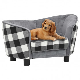 dīvāns suņiem, pelēks, 68x38x38 cm, plīšs
