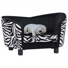 dīvāns suņiem, melns, 68x38x38 cm, plīšs