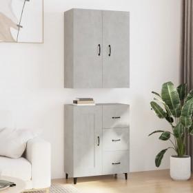uzglabāšanas kastes, 4 gab., melns neausts audums, 32x32x32 cm