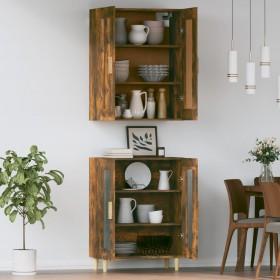 uzglabāšanas kastes, 4 gab., neausts pelēks audums, 32x32x32 cm