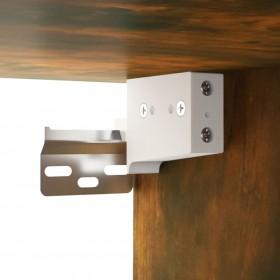 bāra krēsli, 2 gab., balta mākslīgā āda