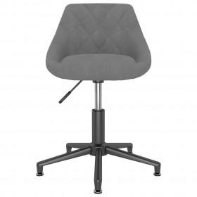 vidaXL virtuves krēsli, 2 gab., gaiši pelēks audums, masīvs ozolkoks