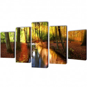 Modulārā Foto Glezna Mežs 200 x 100 cm