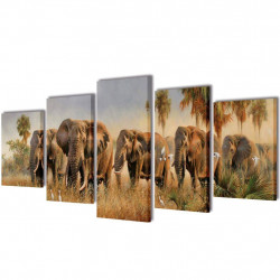 Modulārā Foto Glezna Ziloņi 200 x 100 cm