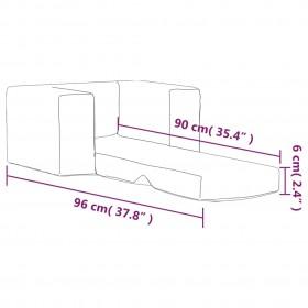 saliekama suņu rampa, melna, 155,5x40x15,5 cm