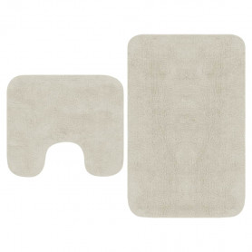 vannasistabas paklāji, 2 gab., balts audums
