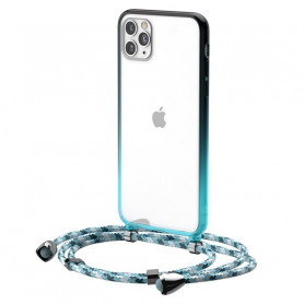 Transparent Baseus Protective Case for iPhone 11 Pro (blue)
