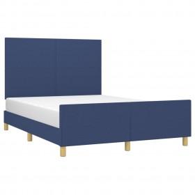 trīsloku motorlaivas jumts, zils, 183x140x140 cm