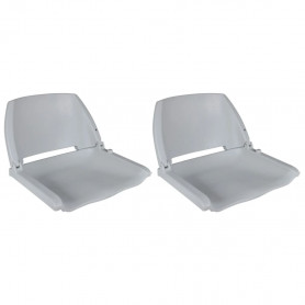 laivas krēsli, 2 gab., nolaižama atzveltne, 41x51x48 cm, pelēki