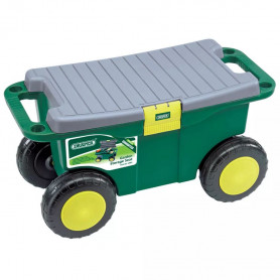 Draper Tools dārza darbarīku kaste un sēdeklis, 56x27,2x30,4 cm, zaļa