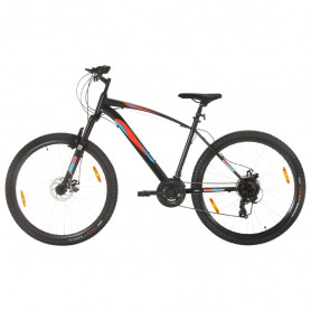 kalnu velosipēds, 21 ātrums, 29'', 48 cm rāmis, melns