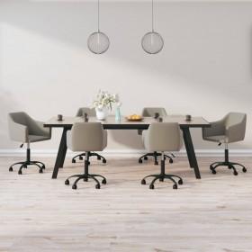 vidaXL virtuves mēbeļu komplekts, 7 gab., melns