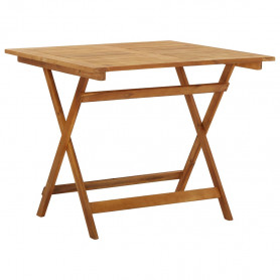 saliekams dārza galds, 90x90x75 cm, akācijas masīvkoks
