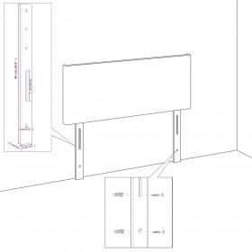 Vannas paklājs, tumši brūns bambuss, 60 x 90 cm