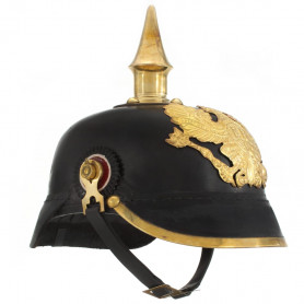 prūšu bruņu cepure, replika, melns tērauds
