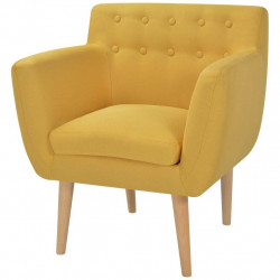 vidaXL atpūtas krēsls, 67x59x77 cm, dzeltens audums