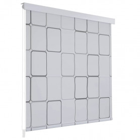 rullo žalūzija dušai, 80x240 cm, ar kvadrātiem