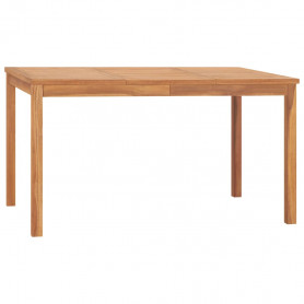 dārza galds, 140x80x77 cm, masīvs tīkkoks