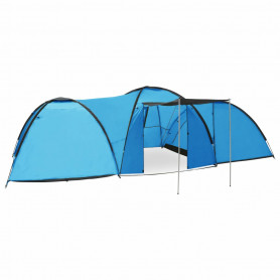 iglu telts, 650x240x190 cm, astoņvietīga, zila