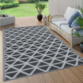 āra paklājs, 160x230 cm, melns PP