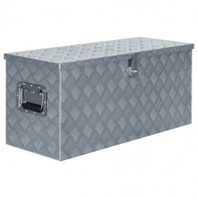 kaste, 90,5x35x40 cm, alumīnijs, sudraba krāsā