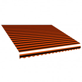 markīzes jumts, oranžs ar brūnu, 450x300 cm