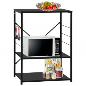 virtuves plaukts, melns, 60x39,6x79,5 cm, kokskaidu plātne