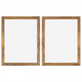 foto rāmji, 2 gab., pārstrādāts masīvkoks, stikls, 90x70 cm