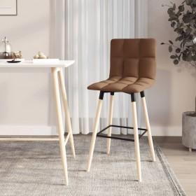 vidaXL grozāmi virtuves krēsli, 2 gab., brūns audums