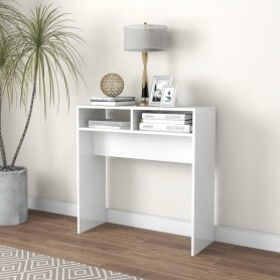 konsoles galds, spīdīgi balts, 78x30x80 cm, skaidu plāksne