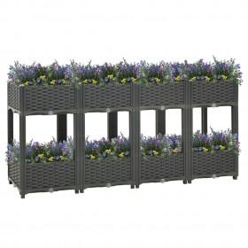 vidaXL konsoles virtuves krēsli, 4 gab., konjaka krāsas mākslīgā āda