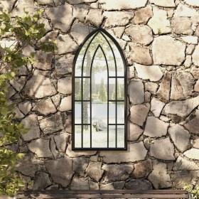 vidaXL dārza gulta ar saulessargu, brūna, PE rotangpalma