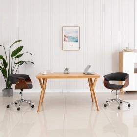 vidaXL balkona aizslietnis, 75x400 cm, antracītpelēks un balts HDPE