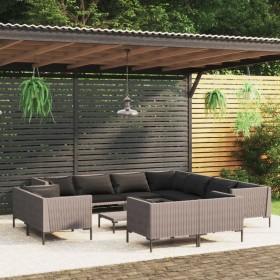 vidaXL sauļošanās zvilnis ar matraci un riteņiem, brūna PE rotangpalma