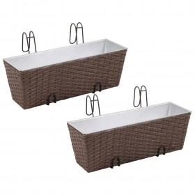 vidaXL divdaļīga nojume atkritumu konteineram, 148x80x111 cm, melna