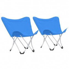 kempinga krēsli, 2 gab., saliekami, zili
