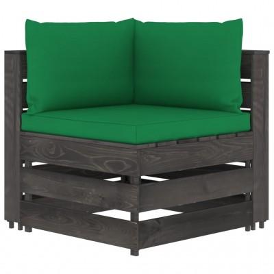 atpūtas krēsls ar kājsoliņu, tumši brūna mākslīgā āda