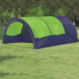 Telts 6 Personām Poliestera Zila Zaļa