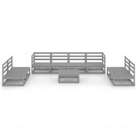 vidaXL vīriešu uzvalks, smokings, divdaļīgs, 46.izmērs, zils