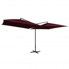 vidaXL paklājs, roku darbs, džuta, sarkans, 160x230 cm
