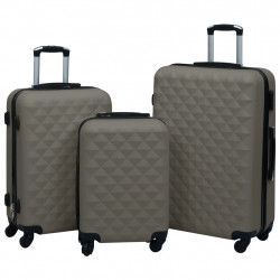 cieto koferu komplekts, 3 gab., ABS, antracītpelēki