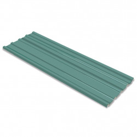 jumta paneļi, 12 gab., cinkots tērauds, zaļi
