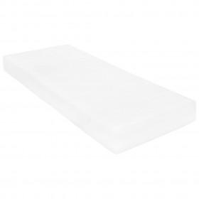 dīvāns ar roku balstiem, divvietīgs, tērauds, gaišpelēks audums