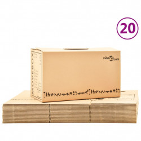 pārvākšanās kastes, 20 gab., kartons, XXL, 60x33x34 cm
